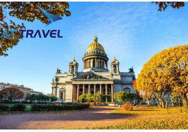 Tour đi Nga thăm quan thành phố Saint Petersburg bên bờ sông Neva