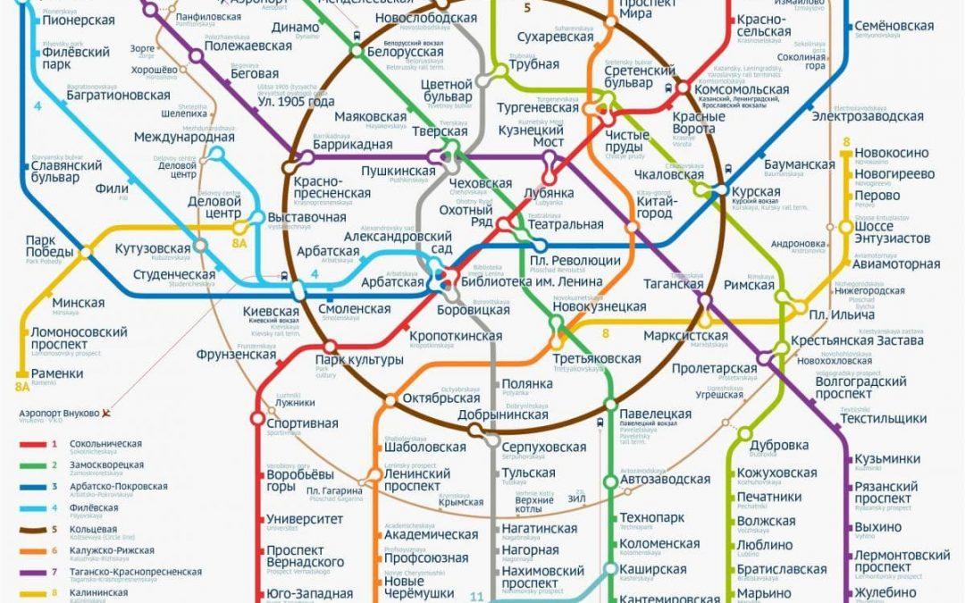 Bản đồ tầu điện ngầm Mát cơ va