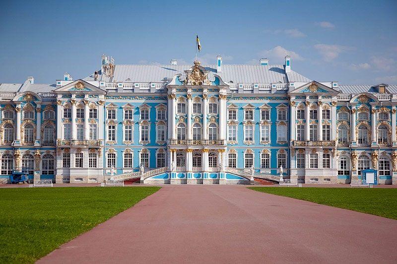 Xao xuyến trước cung điện mùa thu Ekaterina nước Nga