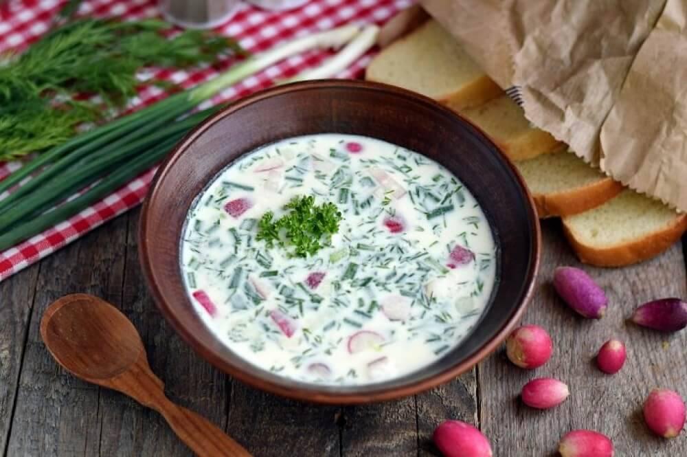 Du lịch Nga mùa hè nhất định phải thưởng thức súp lạnh Okroshka